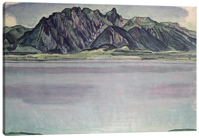 Thunersee With The Stockhorn Mountains II, 1910 Canvas Art Print