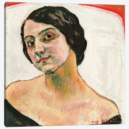 Woman With Brown Hair, 1913 Canvas Print #BMN11377} by Ferdinand Hodler Canvas Print
