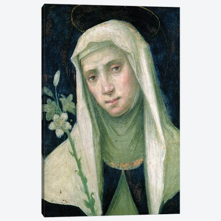 St. Catherine Of Siena Canvas Print #BMN11378} by Fra Bartolommeo Canvas Art