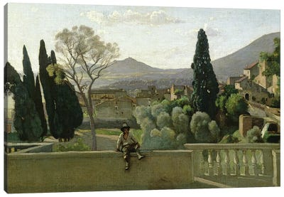 The Gardens of the Villa d'Este, Tivoli, 1843  Canvas Art Print