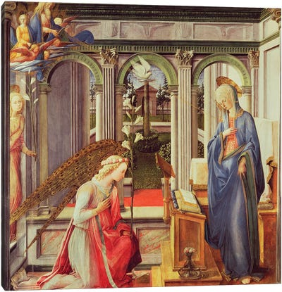 Annunciation To Mary (Alte Pinakothek), c.1443-45 Canvas Art Print