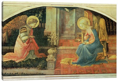 The Annunciation (National Gallery, London), c.1450-53 Canvas Art Print