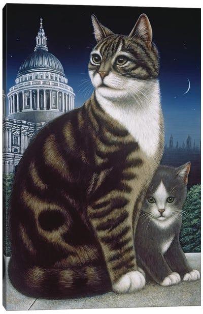 Faith, The St. Pauls Cat, 1995 Canvas Art Print