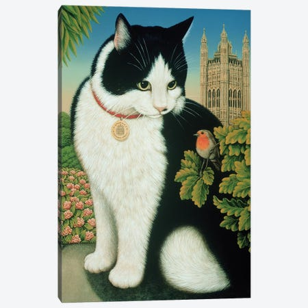 Humphrey, The Downing Street Cat, 1995 Canvas Print #BMN11386} by Frances Broomfield Canvas Art