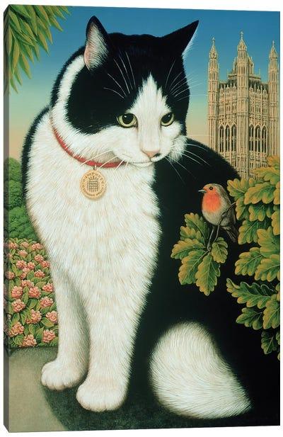 Humphrey, The Downing Street Cat, 1995 Canvas Art Print