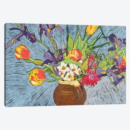 Spring Flowers Canvas Print #BMN11388} by Frances Treanor Art Print