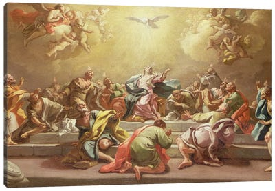 The Descent Of The Holy Spirit Canvas Art Print