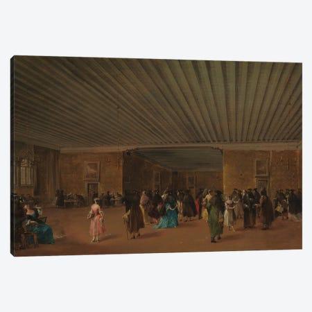 The Ridotto Pubblico At Palazzo Dandolo, c.1765-68 Canvas Print #BMN11392} by Francesco Guardi Canvas Artwork