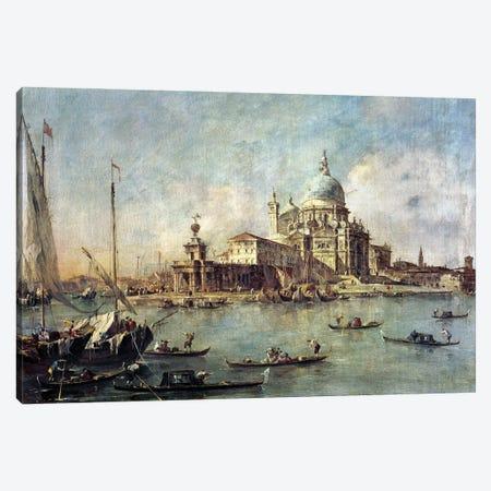 Venice, The Punta Della Dogana With Santa Maria Della Salute, c.1770 Canvas Print #BMN11393} by Francesco Guardi Canvas Artwork