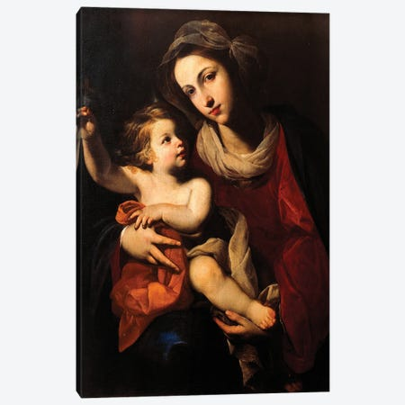 Madonna And Child Canvas Print #BMN11394} by Francesco Solimena Art Print