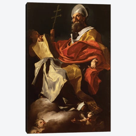 St. Athanasius Canvas Print #BMN11395} by Francesco Solimena Canvas Print