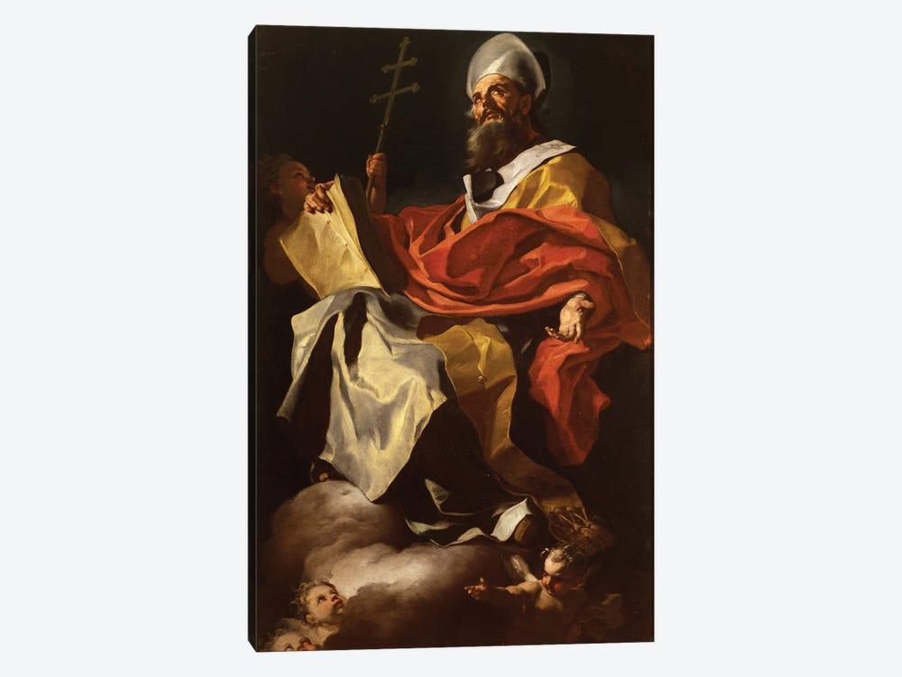 St. Athanasius by Francesco Solimena 1-piece Canvas Wall Art
