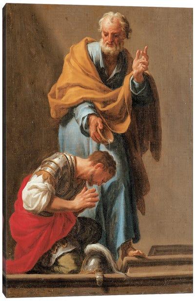 St. Peter Baptising The Centurion Cornelius Canvas Art Print