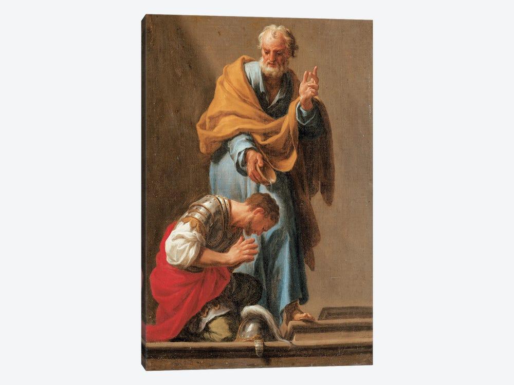 St. Peter Baptising The Centurion Cornelius by Francesco Trevisani 1-piece Canvas Art Print