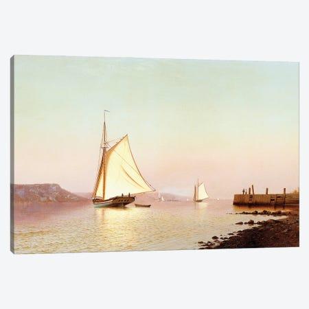 October On The Hudson, c.1873 Canvas Print #BMN11397} by Francis Augustus Silva Art Print