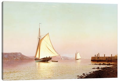 October On The Hudson, c.1873 Canvas Art Print