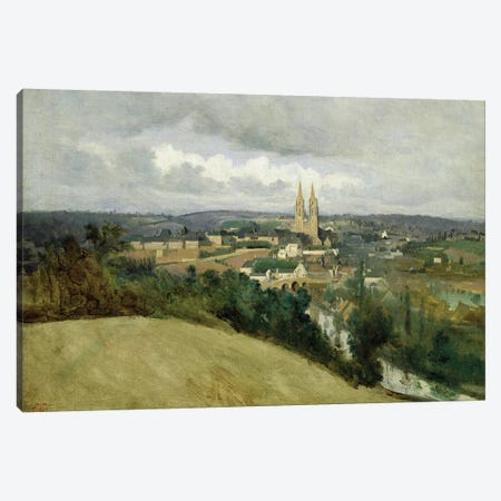 General View of the Town of Saint-Lo, c.1833  Canvas Print #BMN1139} by Jean-Baptiste-Camille Corot Canvas Artwork