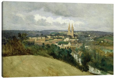 General View of the Town of Saint-Lo, c.1833  Canvas Art Print