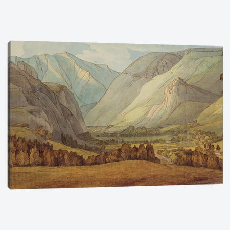 A View In St. John's In The Vale Looking Towards Keswick, 1786 Canvas Print #BMN11400} by Francis Towne Canvas Wall Art