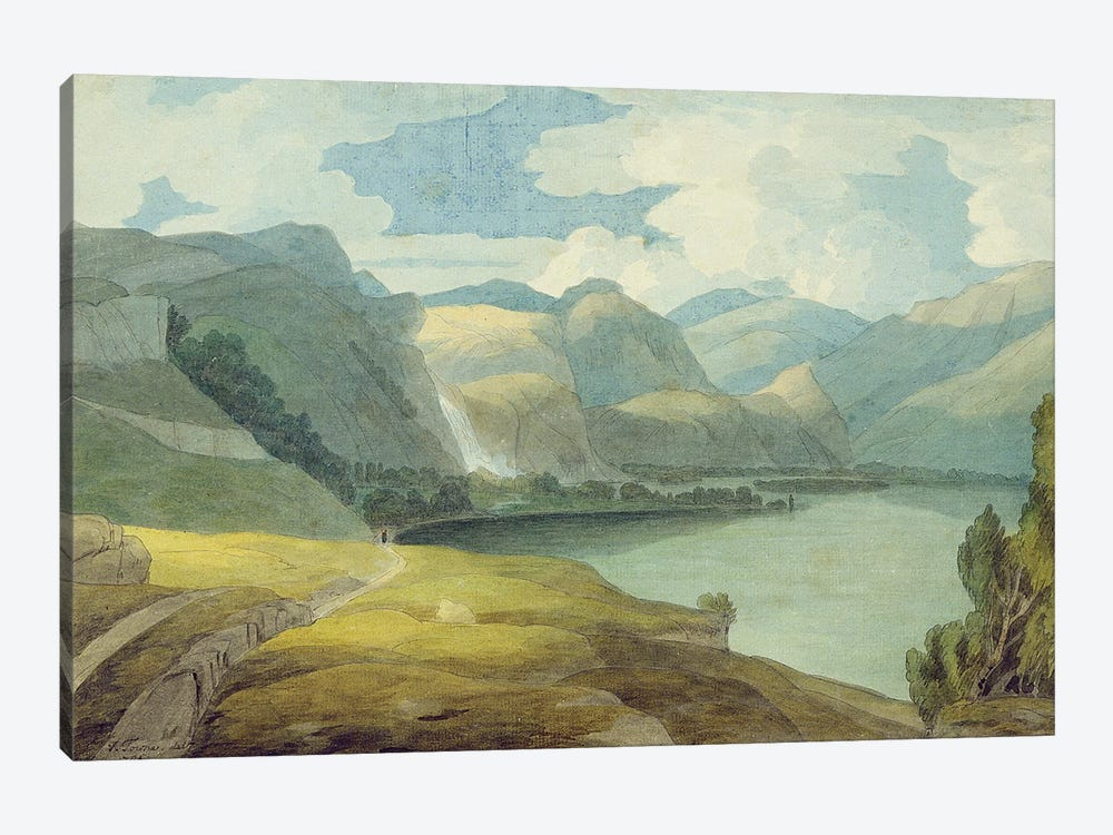 Derwentwater Looking South, 1786 by Francis Towne 1-piece Canvas Artwork