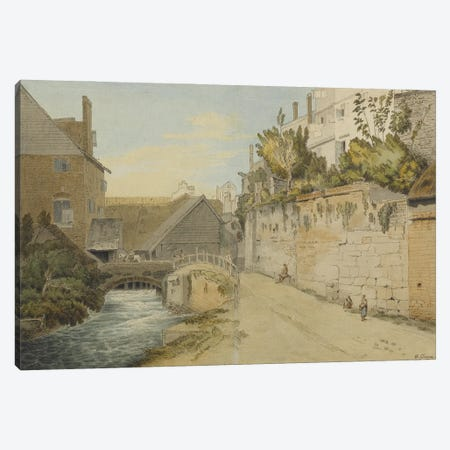 Exeter: Between The Quay Gate And West Gate Outside The City Walls, 1791 Canvas Print #BMN11403} by Francis Towne Canvas Art