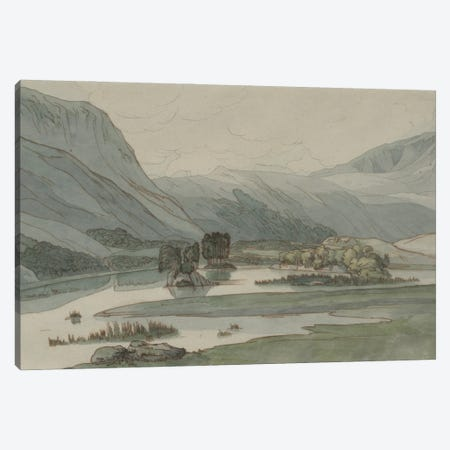 Rydal Water With The Grasmere Hills, 1786 Canvas Print #BMN11406} by Francis Towne Art Print