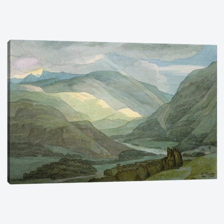 Rydal Water, 1786 Canvas Print #BMN11407} by Francis Towne Canvas Print