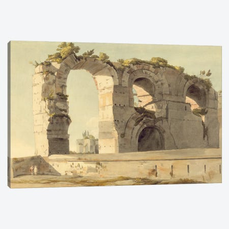 The Claudian Aqueduct, Rome, 1785 Canvas Print #BMN11408} by Francis Towne Canvas Art