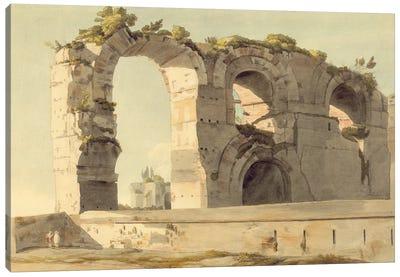The Claudian Aqueduct, Rome, 1785 Canvas Art Print
