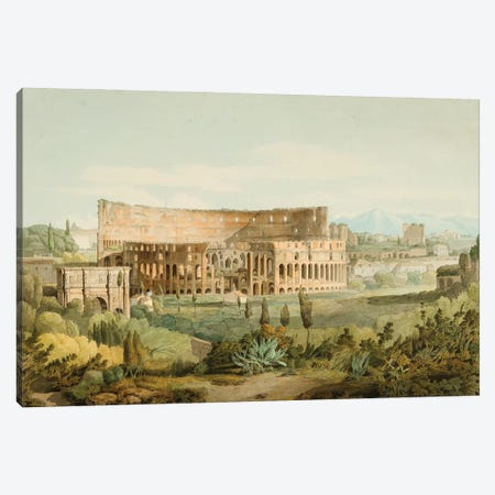 The Colosseum From The Caelian Hills, 1799 Canvas Print #BMN11409} by Francis Towne Canvas Art
