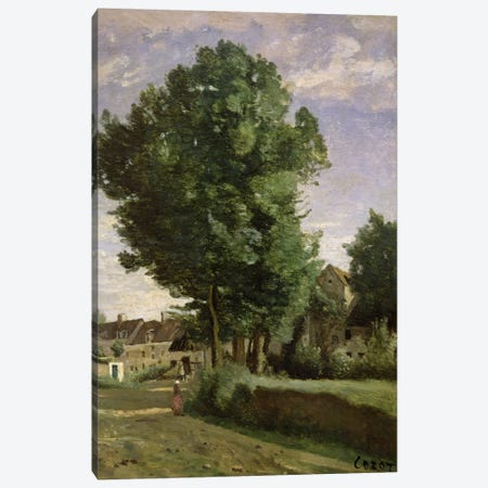 Outskirts of a village near Beauvais, c.1850  Canvas Print #BMN1140} by Jean-Baptiste-Camille Corot Canvas Print