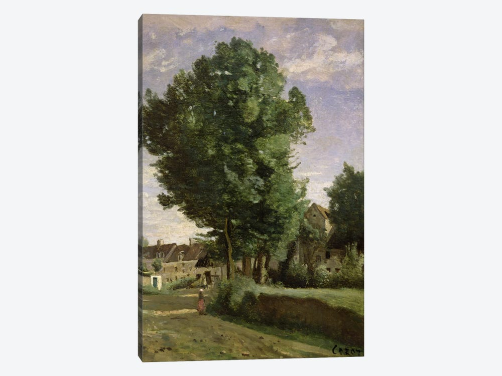 Outskirts of a village near Beauvais, c.1850  by Jean-Baptiste-Camille Corot 1-piece Canvas Art