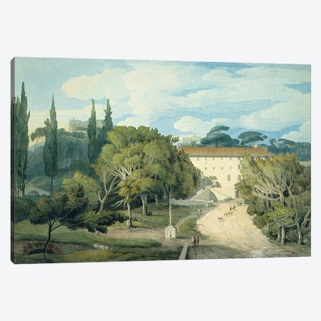 The Convent Of St. Eufebio, Near Naples Canvas Print #BMN11410} by Francis Towne Canvas Art Print