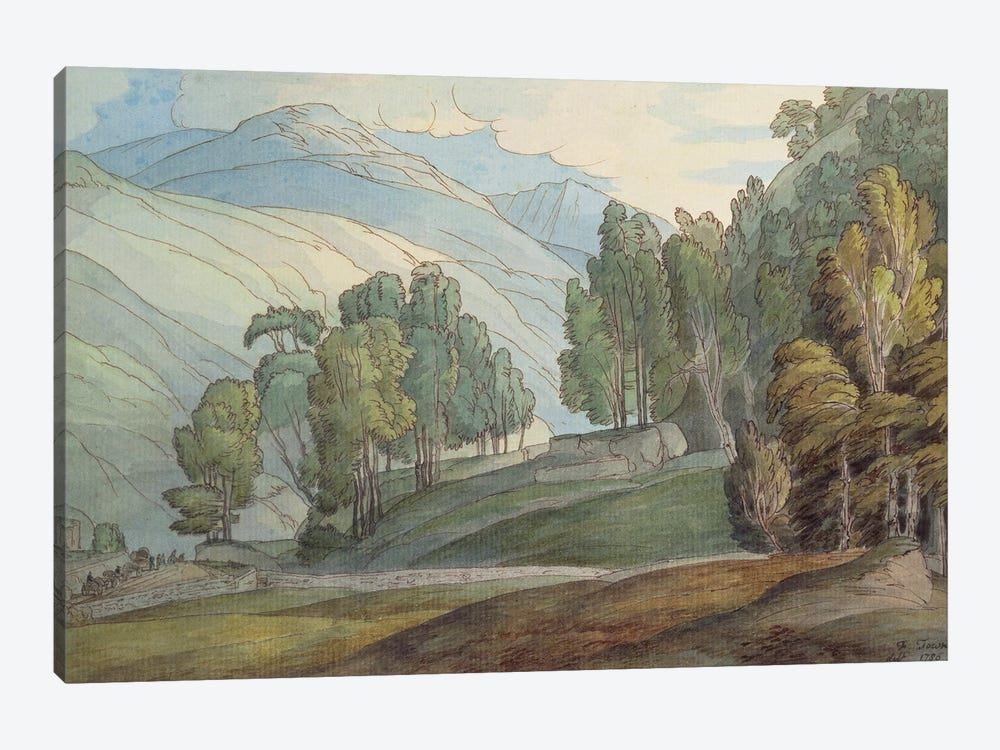 The Vale Of St. John In Cumberland, 1786 by Francis Towne 1-piece Canvas Print