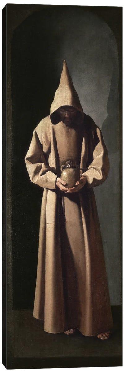 St. Francis Contemplating A Skull, c.1635 Canvas Art Print