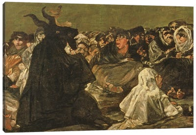 Deatil Of Satan, The Witches' Sabbath (The Great He-Goat), c.1821-23 Canvas Art Print