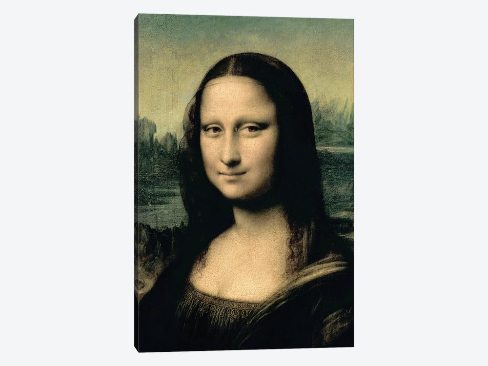 Detail of the Mona Lisa, c.1503-6  by Leonardo da Vinci 1-piece Canvas Print