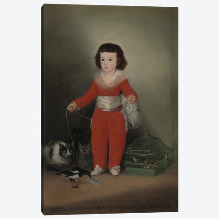 Don Manuel Osorio Manrique de Zuniga, 1790 Canvas Print #BMN11420} by Francisco Goya Canvas Artwork
