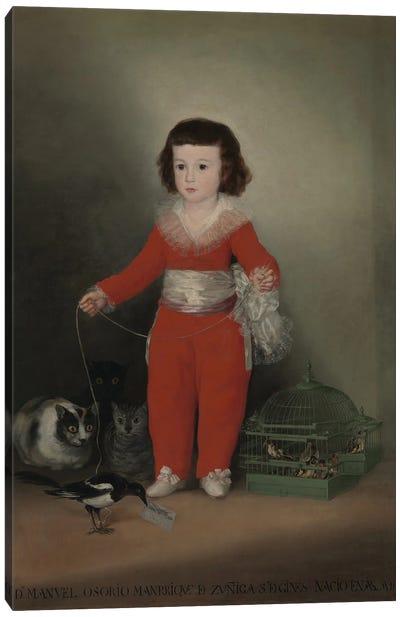 Don Manuel Osorio Manrique de Zuniga, 1790 Canvas Art Print
