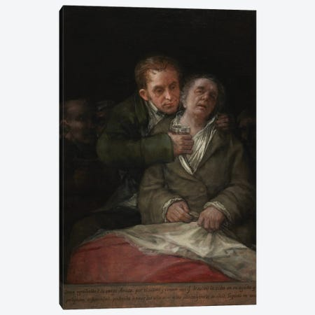 Self-Portrait With Dr. Arrieta, 1820 Canvas Print #BMN11421} by Francisco Goya Canvas Artwork