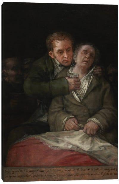 Self-Portrait With Dr. Arrieta, 1820 Canvas Art Print