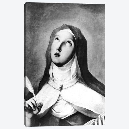 St. Teresa Of Avila (B&W Photo) Canvas Print #BMN11422} by Francisco Goya Canvas Artwork