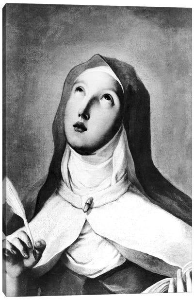 St. Teresa Of Avila (B&W Photo) Canvas Art Print