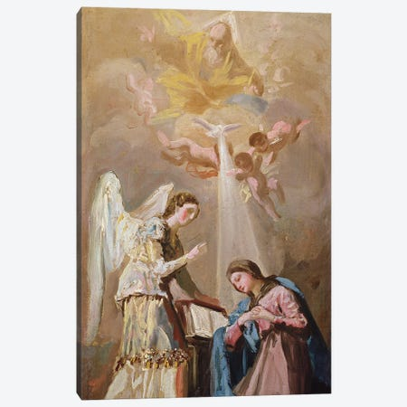 The Annunciation Canvas Print #BMN11423} by Francisco Goya Canvas Wall Art