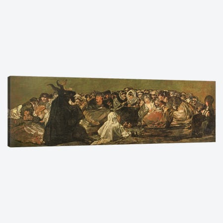 The Witches' Sabbath (The Great He-Goat), c.1821-23 Canvas Print #BMN11429} by Francisco Goya Canvas Artwork