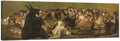 The Witches' Sabbath (The Great He-Goat), c.1821-23 Canvas Art Print