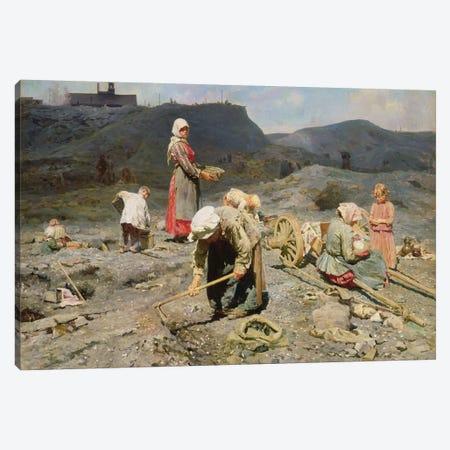 Poor People Gathering Coal at an Exhausted Mine, 1894  Canvas Print #BMN1142} by Nikolaj Alekseevich Kasatkin Art Print