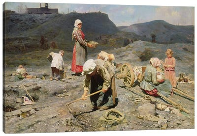 Poor People Gathering Coal at an Exhausted Mine, 1894  Canvas Art Print
