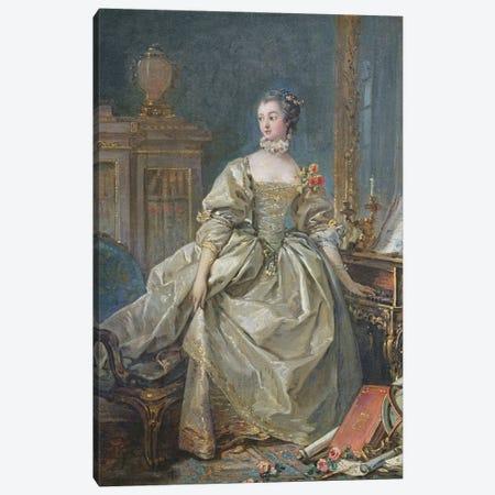 Madame de Pompadour Canvas Print #BMN11433} by Francois Boucher Canvas Art Print