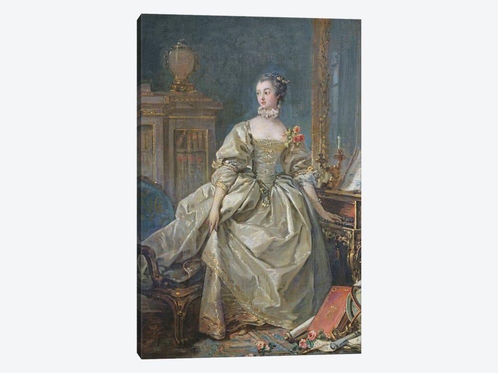 Madame de Pompadour by Francois Boucher 1-piece Canvas Art Print